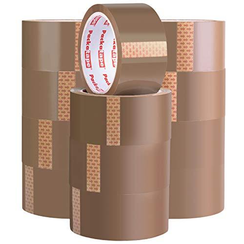 Packatape   Paketklebeband braun   66m lang & 48mm breit   Ideal als Klebeband, Paketband, Verpackungsmaterial & Packband   12 Rollen