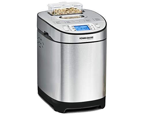 ROMMELSBACHER Brotbackautomat BA 550 - 13 Programme, automatisches Zutatenfach, 2 Brotgrößen (700 g / 900 g), einstellbarer Bräunungsgrad in 3 Stufen, auch für...