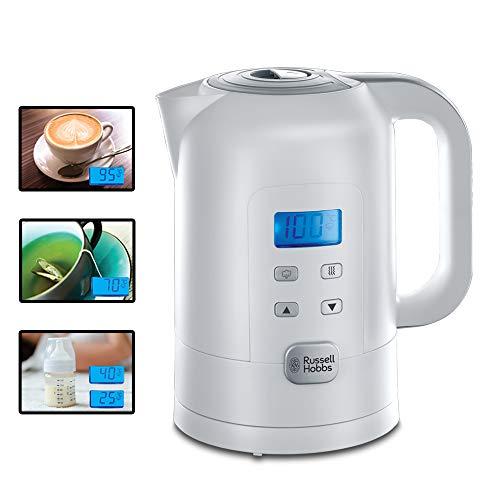 Russell Hobbs Wasserkocher Precision, 1,7l, 2200W, digitale Temperatureinstellung & LCD Anzeige, 25°-100°C einstellbar für die Zubereitung von Babynahrung & Tee,...