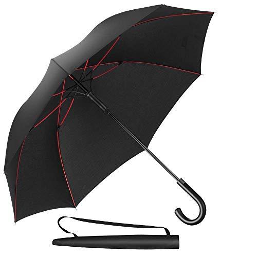 Newdora Stockschirm Regenschirm Windproof Manuelles Schließen Fiberglas Rippen Golf Umbrella Lightweight Extra Large 210T Wasserdichter Golfschirm Herren Damen mit...