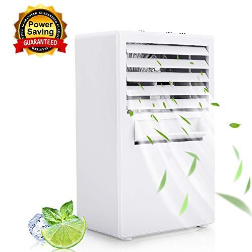 Winload Mini Luftkühler mit Wasserkühlung, 3 in1 Mini Air Cooler, 3 Kühlstufen, Tragbare Klimagerät, Luftbefeuchter, Luftreiniger, Luftkühler Mini Klimaanlage...