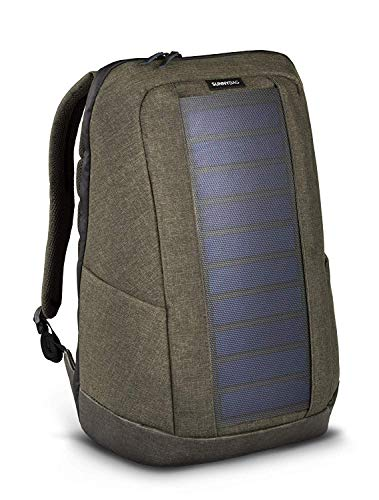 SunnyBAG Iconic solar backpack with integrated 7 watt solar panel | USB connection | Wireless charging | Laptop compartment for 17 inch notebook 20 liters | ...