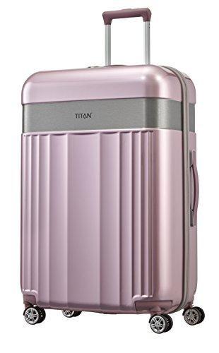 TITAN 4-Rad Koffer Größe L mit TSA Schloss, Gepäck Serie SPOTLIGHT: Edler Trolley in trendigen Farben, 831404-12, 76 cm, 102 Liter, wild rose (rosa)