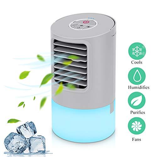 Mobile Klimaanlage Mini Luftkühler Air Cooler Klima Anlage Mini Air Verdunstungsgerät Persönliche Klimawürfel Mini klimageräte für zimmer, Luftbefeuchter mit 2...