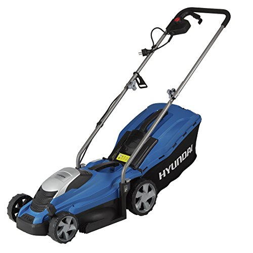 HYUNDAI electric lawnmower LM3301E (mulching function, 1300W, cutting width 33 cm, 35L grass catcher, 5-fold height adjustment 25-65 mm, electric mower, mulching mower, ...