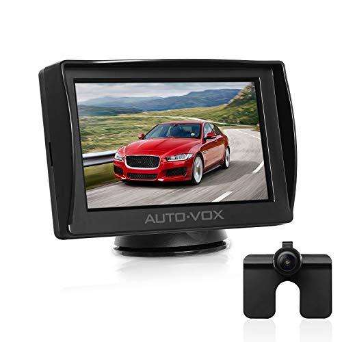 AUTO-VOX M1 Rückfahrkamera mit Monitor, IP68 wasserdichte AutoKamera für Einparkhilfe Rückfahrhilfe mit Stabiler Signalübertragung, 4.3'' TFT LCD Rückansicht...