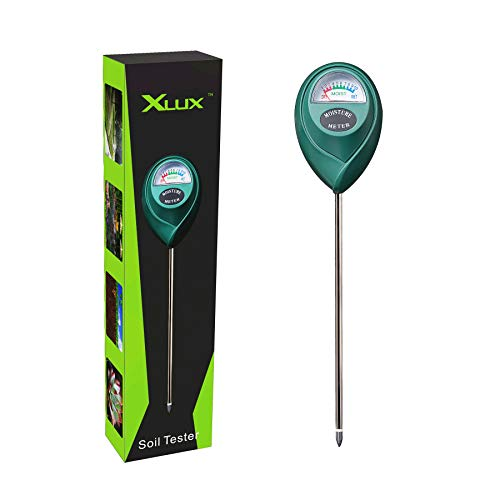 XLUX Boden-Feuchtigkeitsmessgerät, Boden-Feuchtigkeitsmesser, Hygrometer für den Garten & die Landwirtschaft, bodentester,Keine Batterien erforderlich