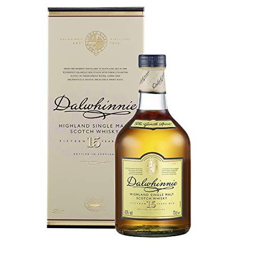 Dalwhinnie Highland Single Malt Scotch -viski - 15-vuotias - kanervan ja hunajan tuoksut - 1 x 0,7 l