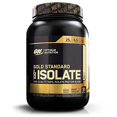 Optimum Nutrition ON Gold Standard 100% isolaatti, hera-isolaattiproteiinijauhe, proteiinijauhe, joka sisältää luonnollisesti glutamiinia ja aminohappoja, vanilja, 31 ...