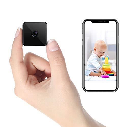 Mini Kamera WLAN, HD WiFi Überwachungskamera Kompakte Kleine Sicherheitskamera - Lange Standby-Zeit von 7 Tagen,Wireless Nanny Cam mit IR Nachtsicht, unterstützt...