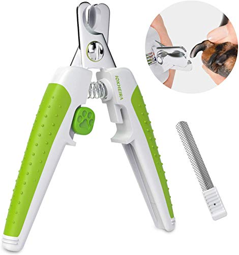 Iokheira claw scissors for dogs, professional scissors for pets with protective device to prevent overcut injuries, claw scissors for cats ...