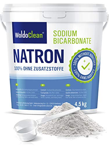 Natron powder 4,5 kg in food grade incl. Scoop Vegan - for household, base bath, cleaner, neutralizer