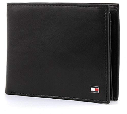 Tommy Hilfiger Men's ETON CC FLAP AND COIN POCKET Wallets, Black (BLACK 002), 13x10x2 cm