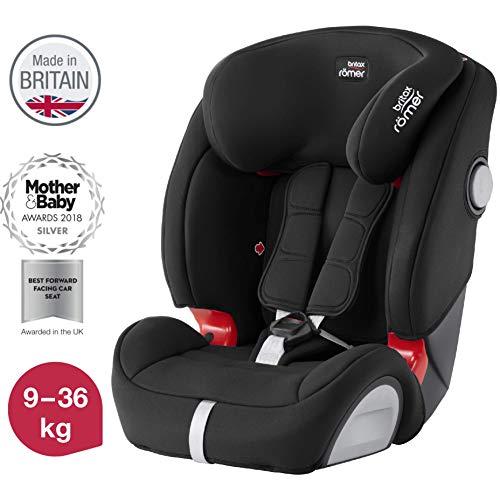 Britax Römer Kindersitz, 9 - 36 kg, EVOLVA 123 SL SICT Autositz Isofix Gruppe 1/2/3, cosmos schwarz