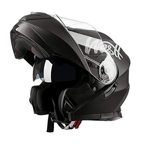 WESTT Torque X Motorrad-Integralhelm I Motorradhelm schwarz-matt I Motorrad-Klapphelm I stoßfester Motorradhelm I Integralhelm Herren & Damen I Roller-Helm I ECE...