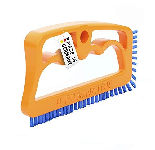 FUGINATOR Fugenbürste orange/blau – Bürste zur Fugenreinigung in Bad, Küche und Haushalt mit EU-Patent