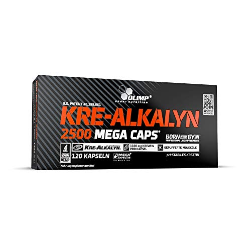 Olimp Kre-Alkalyn 2500 Mega Caps | Creatine | 30 Portionen | 120 Kapseln, 1er Pack (1 x 170,4 g)