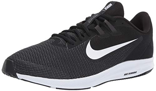 Nike Herren Downshifter 9 Laufschuhe, Schwarz (Black/White-Anthracite-Cool Grey 002), 43 EU