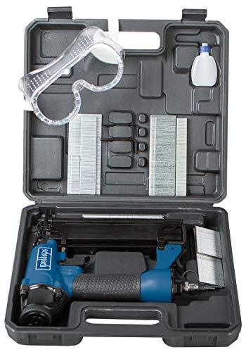 Scheppach Druckluftpistole 2in1 Klammer und Nagelpistole (Nägel bis 50mm, Klammern bis 40mm, Luftbedarf je Schuss 1,5L , Arbeitsdruck 8,3 bar, 360° Abluftführung)...