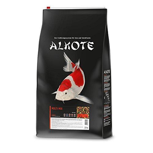 AL-KO-TE, 1 kausiluonto koi, kesäkuukausina, kelluvat pelletit, 6 mm, peruselintarvike Multi Mix, 7,5 kg