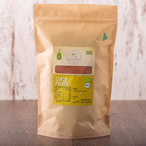 süssundclever.de® Bio Carobpulver | 1 kg | Premium Qualität | 100% reines Naturprodukt | plastikfrei und ökologisch-nachhaltig abgepackt