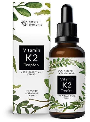 Vitamin K2 MK-7 200µg - 1700 Tropfen (50ml) - Höchster All-Trans Gehalt 99,7+% (K2VITAL von Kappa) - Laborgeprüft, vegan, hochdosiert, hergestellt in Deutschland
