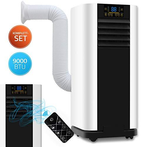 Home Deluxe - Klimaanlage Mobil SET Mokli XL - Mobiles Klimagerät mit 4in1 System: kühlen, heizen, entfeuchten, lüften - 9000 BTU/h (2.600 Watt) - Klima mit...
