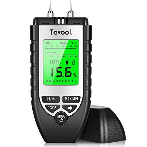 Feuchtigkeitsmessgerät Feuchtigkeitsmesser - Feuchtigkeits-Detector Feuchtigkeitsdetektor mit Batterie und LCD-Display Digitales Feuchtemessgerät für Holz...