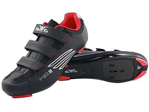 Raiko Sportswear HP3 Rennradschuhe   SPD-SL/Look Klickpedale   Klettverschluss   Leder mit Netzeinsätzen   Airflow Sohle