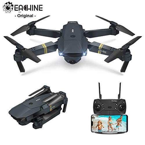 EACHINE Drohne mit Kamera E58 Live Übertragung,120°Weitwinkel 720P HD Kamera, WiFi FPV Quadrocopter, App-Steuerung, One Key Start/Landung,Headless Modus,Pocket...