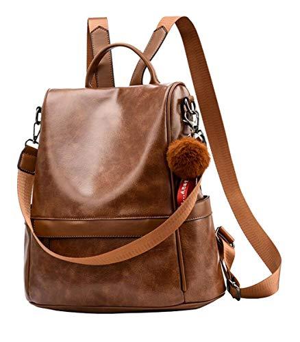 shepretty Damen Rucksack Anti Diebstahl Umhängetasche Multifunktions Schultaschen,6766Brown