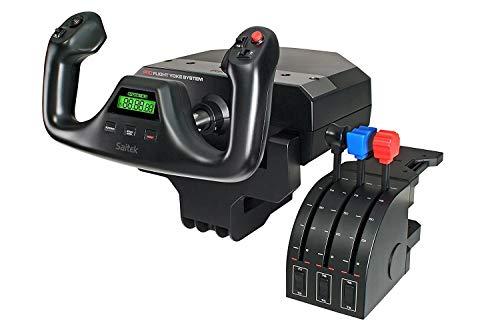 Logitech G Saitek Pro Flight Yoke System, Steuerhorn und Schubregler für Flug Simulatoren, Throttle Quadrant, 5 Achsen, Edelstahl-Höhenruder,...