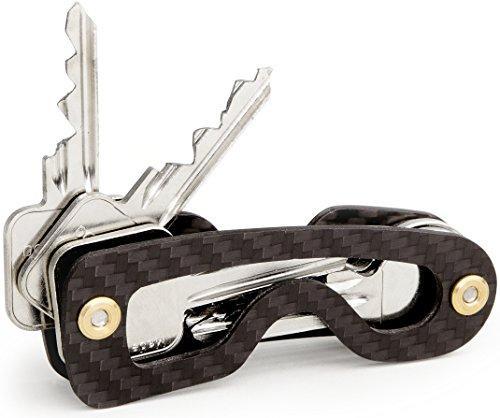 Schlüssel Organizer mit Spezial Befestigungssystem, bis 18 Schlüssel, Smart Key Organizer ( Carbon )