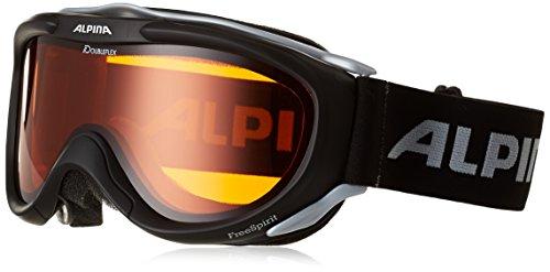 Alpina Ski Goggles FreeSpirit, black transparent dlh (black transparent dlh), One size, A7008-131