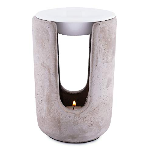 Pajoma fragrance lamp `` Ambience '' made of concrete & ceramic, height 15 cm