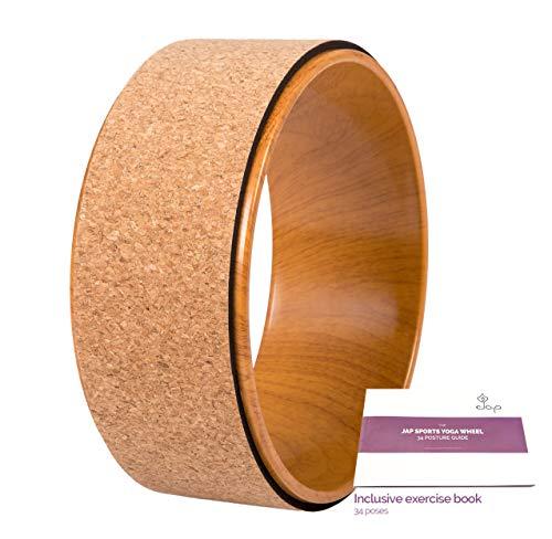 JAP Sports - Yoga Wheel - Yoga Rad - [Pro Series] Stärkstes und bequemstes Dharma Yoga Prop Rad, perfektes Zubehör zum Dehnen und Verbessern von Rückbeugen, 33 x...