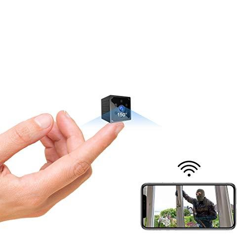 Mini Kamera, KEAN 4K HD Mini Überwachungskamera Lange Batterielaufzeit Kompakte Kleine WLAN Sicherheitskamera für Innen WiFi Minikamera live Handy APP mit...