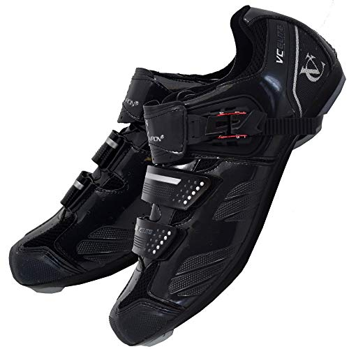 VeloChampion Elite Rennradschuh (Paar) Black/Silver 44 Road Cycling Shoes