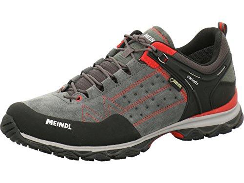 Meindl men's lightweight hiking shoe Ontario Men GTX trekking & hiking low shoes, red (red / anthracite 078), 44.5 EU
