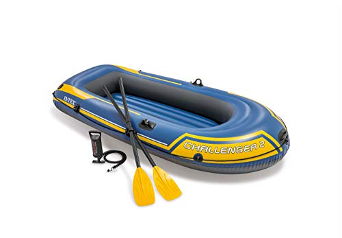 Intex Challenger 2 Set inflatable boat - 236 x 114 x 41 cm - 3 parts - Blue / Yellow