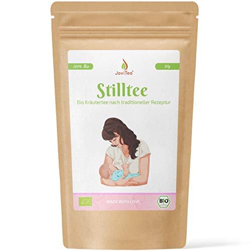 JoviTea® Stilltee Bio für frisch gewordene Mütter - ohne Koffein - Mit Bockshornklee, Fenchel, Anis, Zitronenverbene, Kümmel und Dillsamen - 80g