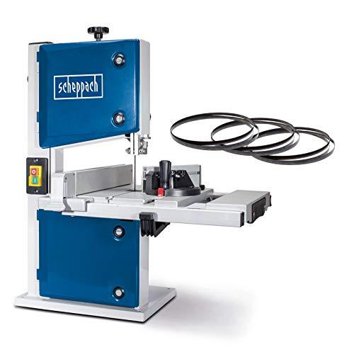 Scheppach HBS30 Bandsäge Holzbandsäge Holzsäge Tischsäge Säge inkl. 3 Sägebänder | 230 Volt | 350 Watt | max. Durchlasshöhe: 80 mm | max. Durchlassbreite:...