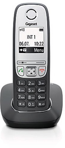 Gigaset A415 Cordless telephone without answering machine (DECT telephone, with hands-free function, graphic display and easy operation) black
