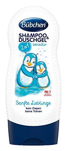Bübchen Kids Shampoo und Duschgel sensitiv Sanfte Lieblinge, Kinder-Shampoo und -duschgel, pH-hautneutrale Pflege für Kinderhaut, mit frischem Duft, Menge: 1 x 230...