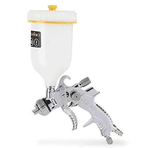 Varo Profi Druckluft Niederdruck- Spraypistole, Spritzpistole, Lackierpistole, FLIESBECHERpistole mit 600 ml Becher - POWAIR0109