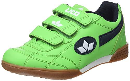 Lico Boys Bernie V Indoor Shoes, Green (Green / Navy / White), 37 EU