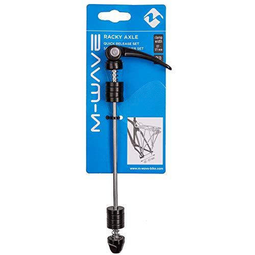 M-Wave Unisex– Erwachsene QRS Schnellspanner Set, Silber/schwarz, 210 mm