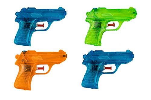 BG Wasserpistole Spielzeug für Kinder - 4 Mini Wasserpistolen mit großer Reichweite für den Strand Urlaub, Pool Partys und Aktivitäten im Freien - Water Gun...
