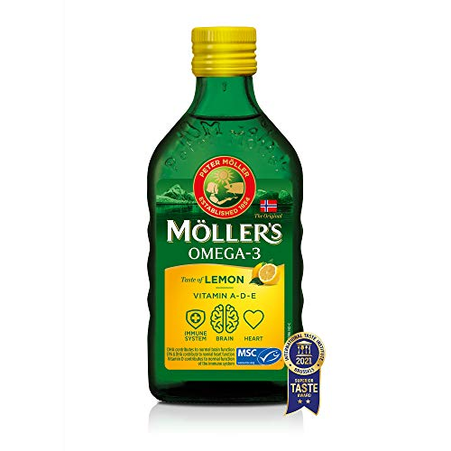 Möllerin Omega 3 -turskanmaksaöljy | Pohjoismainen Omega 3 6 9 -lisäaine EPA: lla, DHA: lla, A-, D- ja E-vitamiineilla | Superior Taste -palkinto Erittäin puhdas luonnollinen kalanmaksaöljy | ...