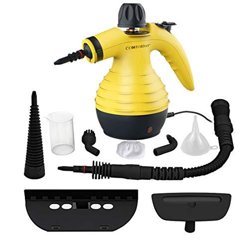 Hand Dampfreiniger handgerät, tragbare Mehrzweck mit 9 Zubehörteilen zum Entfernen von Flecken auf Teppichen, Autositzen, Küchenvorhängen, Kammern, Böden,...